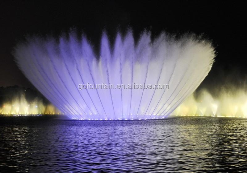 Низкая цена плавающий фонтан музыка танцы шоу красочные огни, Музыка Танцы фонтан