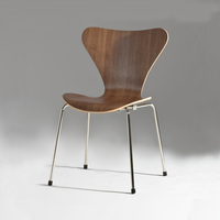 Norman Cherner Side Chair/ Curved Plywood Ant Chair