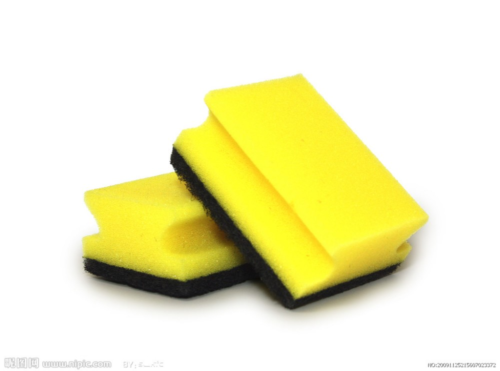kitchen abrasive sponge,yellow sponges scrubber