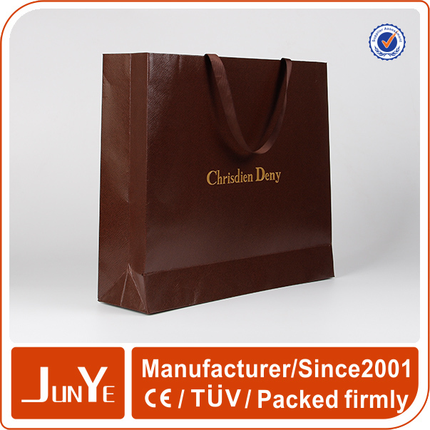 large size paper shopping luxury carrier bag for suits