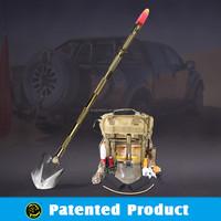 wholesale camping equipment/camping gear/multifunction shovel,knife,digger,flashlight