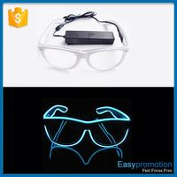 New coming novelty design glow in dark sunglasses for sale