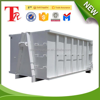 Roll off on dumpster 20m3 cubic meters outdoor hook lift bin