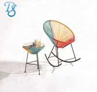 steel frame bistro chair peacock rattan chair for outdoor furniture