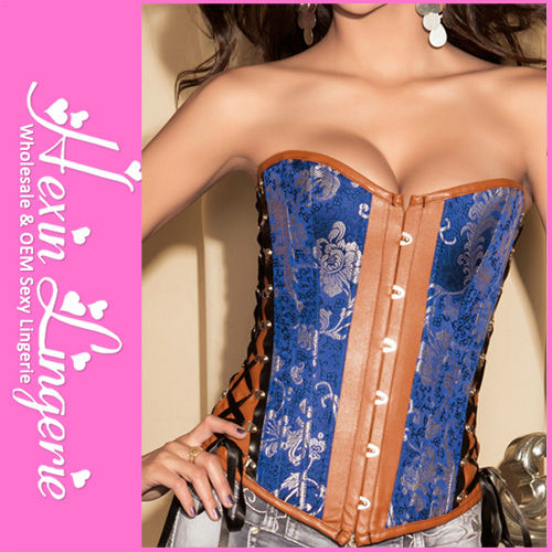 Wholesale Vintage Hot Women Sex Blue Corset