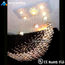 Guzhen wholesale colourful moon crystal modern pendant lighting