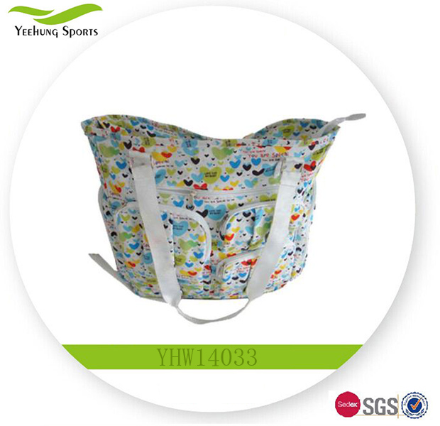 Wholesale Printed Canvas Best Fashion Nappy Diaper Bag For Baby