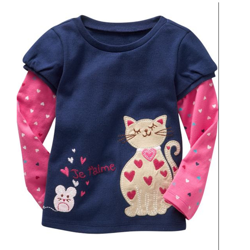 Red Icing Ruffled T-shirt Shirts New In 2018 Hot Sale Children T Shirts