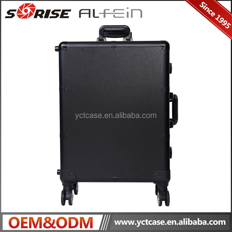 Best-seller luxury aluminum professional makeup case with lights and legs manufacturer