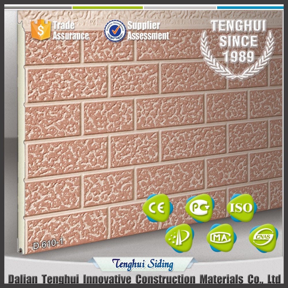 embossed metal insulated brick wall panel/Exterior Insulation Decorative siding Wall Board/Panel cladding with brick series