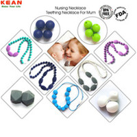 2017 Wholesale Fashion Silicone Teething Necklaces