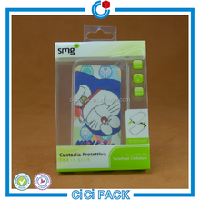 cartoon printing plastic smart phone case package with handle