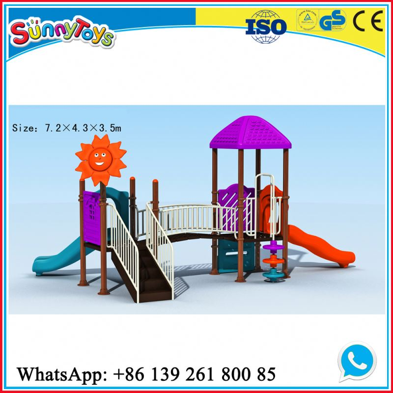 Outdoor kindergarten swing cheap garden slides