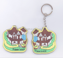 House Shaped Personalized PVC key chains/Fridge Magnets