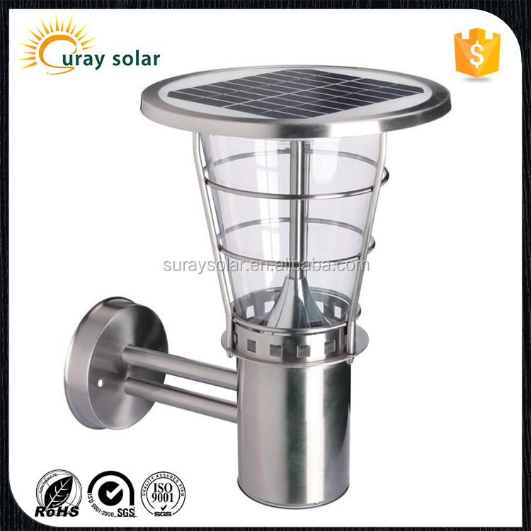 solar led garden light solar power decorative lights led lawn bollard lights-38cm