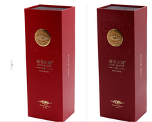 alibaba Double Bottles Leather Wine Box, PU Wine Carrier, Faux Leather Gift Box