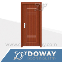 Latest design Economical Interior wooden doors, MDF PVC door, bedroom door