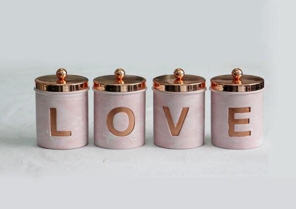 Unique candle jars for wedding centerpieces