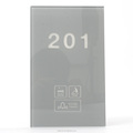 Grey Crystal Doorplate Led Wall Display Touch Control Door Number Sign with DND MUR Dooebell