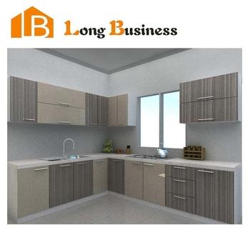 Lb jx1208 hpl plywood laminate finished kitchen cabinet for Kitchen set hpl