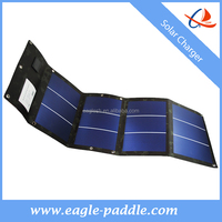 Solar flexible folding battery charger