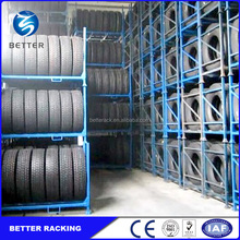Heavy Duty Stacking Metal Truck Tire Storage Pallet Racks for Warehouse
