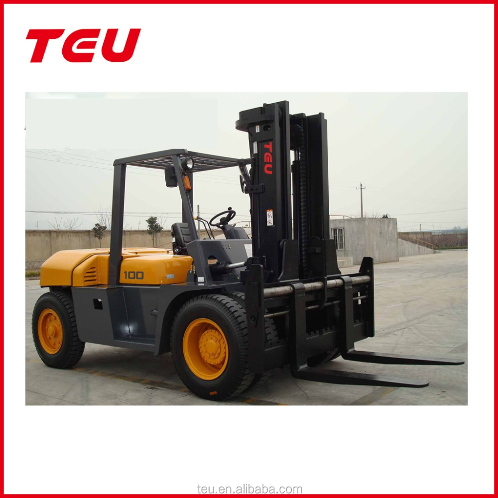 10 tons diesel hydraulic forklift with low displacement engine