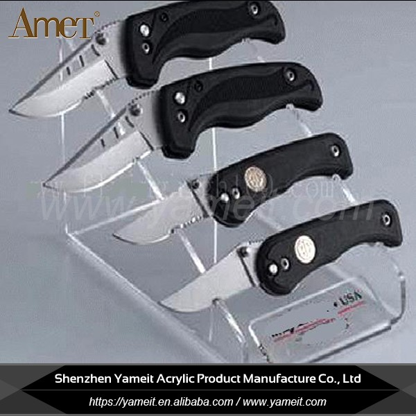 Factory Customized Modern Acrylic Knife Display Cases Stand