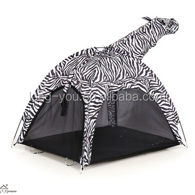 Zebra shaped kids camping tent child play tent wholesale