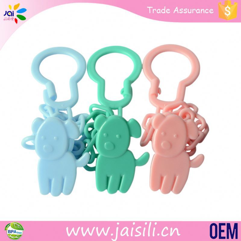 Wholesale Manufacturer colorful beautiful pacifier clips type pacifier holder clip