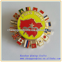 flags soft enamel souvenir lapel pins custom souvenir metal badge
