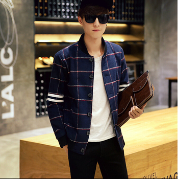 28Gentlemen's long sleeve BUTTON thickens maintains warmth jacket for WINTER season,fom Guangzhou