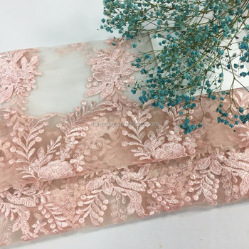 High quality lace embroidery for woman dress and garment