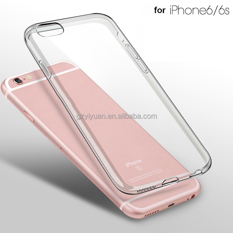 6/6s Clear TPU Case for iPhone 6 6s Slim Crystal Back Protect Skin Rubber Phone Cover Silicone Gel Case