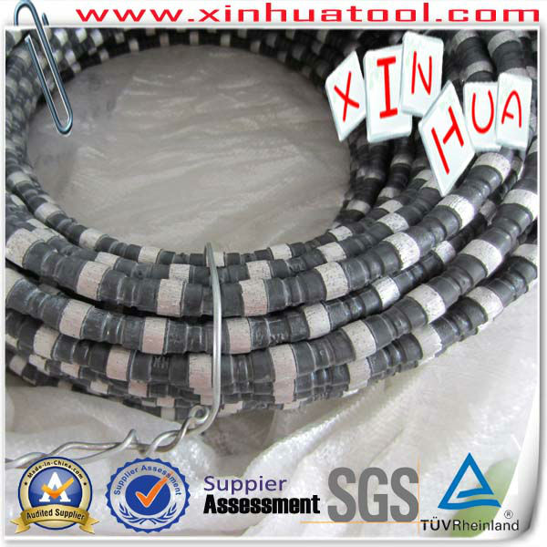 XINHUA Well Diamond Wire Saw for Reinforce Concrete----Diameter 11.0,Connection Way:Rubber+Spring for European Market
