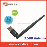 300Mbps usb wireless Adapter, 802.11b/g/n Wi-Fi USB Wireless Network Card with 3.5DB Antenna