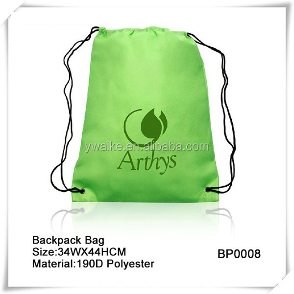 Colorful Polyester Backpack Bag For School