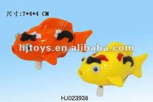 Plastic wind up fish,swimming toy