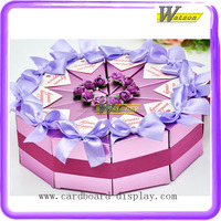 Special Design Cake Shape Triangle Bowknot Wedding Candy Packaging Paper Box