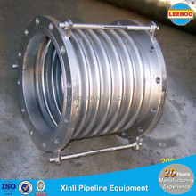 Thermal tube metallic bellows for pipeline deflection compensator