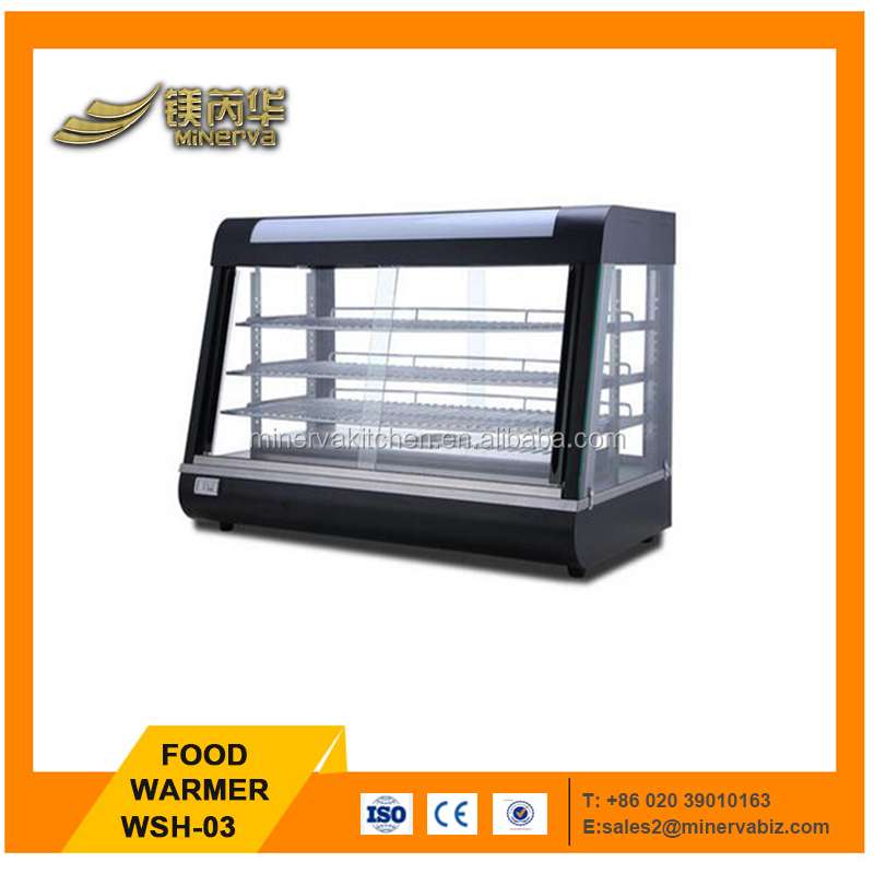 Best selling Snack Food Equipment/ Warmer showcase display 220v 1800w food warmer cabinet