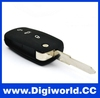 Universal car keys for Vw Golf Passat Polo Bora for 3 Button flip Remote Case
