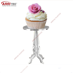 clear single acrylic wedding cupcake display stands