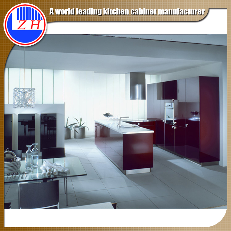 factory offer many design most durable high gloss matte color philippines modular kitchen