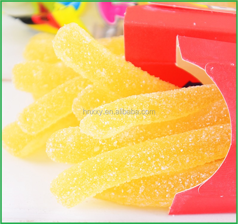 Fast Food Chips Shaped Gummy Candy Custom Fast Food Series Gummy Fries Jelly Candy