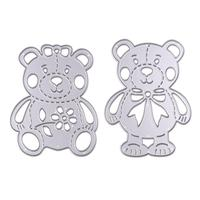 2pcs Lively Bear Designs Metal Cutting Dies Stencils for Scrapbooking/Photo Album DIY Ornaments Embossing Decorative Accessories
