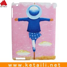 pink color accessory,case for ipad with cartoon picture