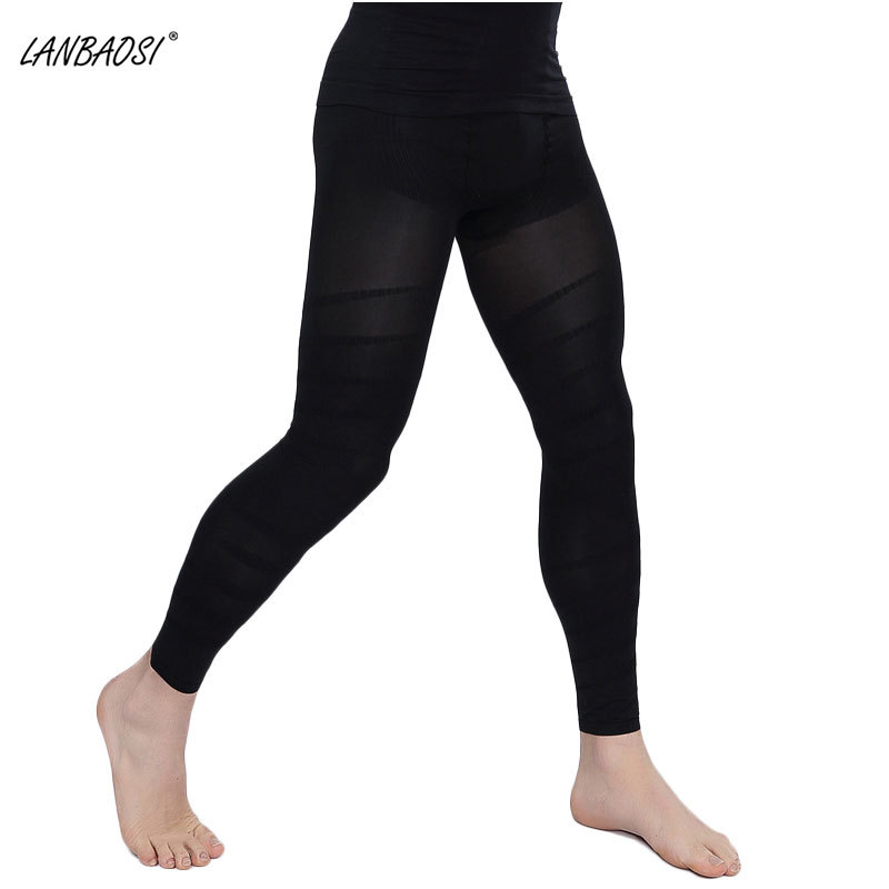 Wholesale Mens Body Shapewear tight long Pants High Waist Slimming Underwear