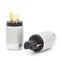Pairs Carbon Fiber Gold Plated US Power Plug HiFi American AC Connectors For DIY Cable