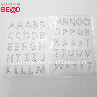 Fashion Diamond Self-Adhesive Acrylic Rhinestones Stick Crystal Craft Sticker Tape-Letter sticker
